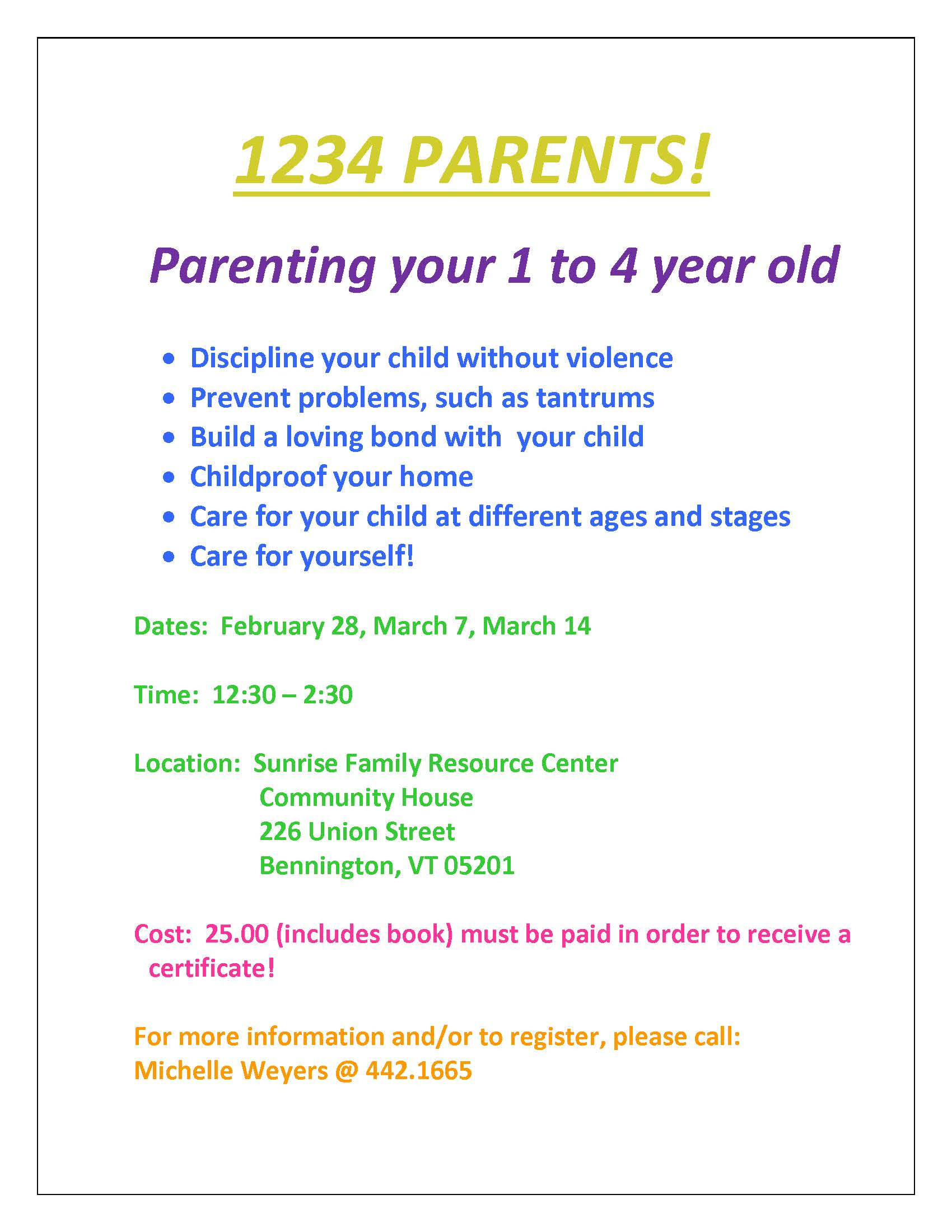 1234 PARENTS flyer